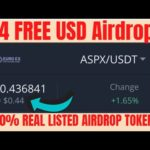 Euroexchange listed token ASPX 4.4$  free Bitcoin join new airdrop do not miss it