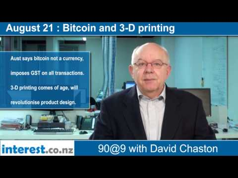 90 seconds @ 9am: Bitcoin and 3-D printing
