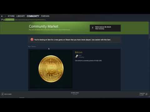 Bitcoin on Run : Bitcoin Item on Steam community market is Completely Scam, Here is why