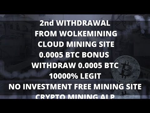 WOLKEMINING 2ND WITHDRAWAL | LEGIT/SCAM  |  NO INVESTMENT | HIGH PAYING   |  FREE BITCOIN MINING