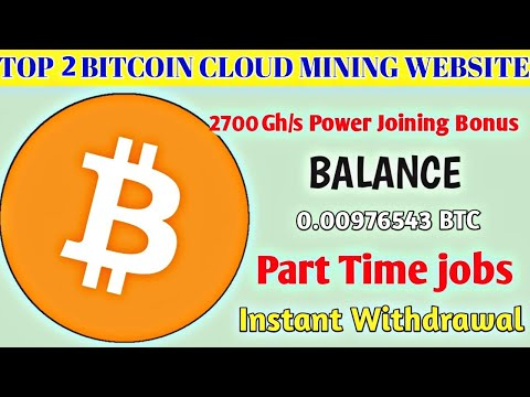 How to Earn Free bitcoin 2020 / Top 2 bitcoin mining site / work From home  Part Time jobs