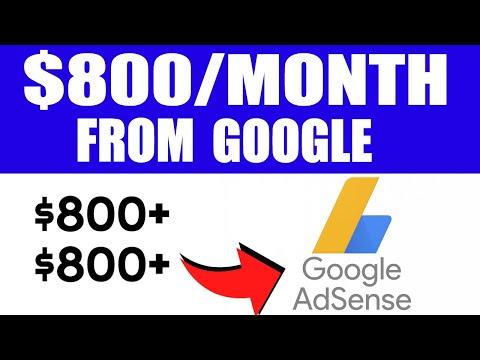 EARN $807 16 Per Month Using Google! Make Money Online Google 2020