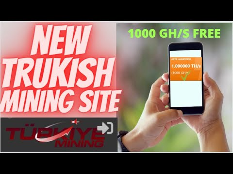 New bitcoin  Cloud mining Turkish site2020  FREE 1000 gh/s Sign up BOUNS 0.0003 withdraw amount