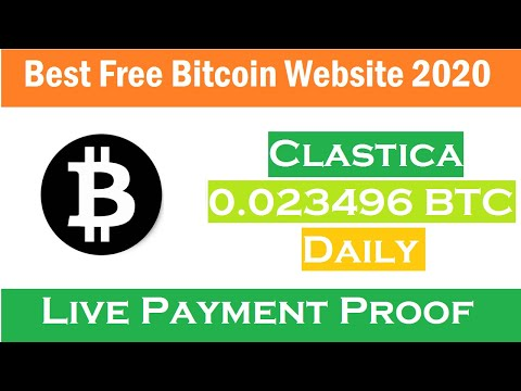 Best Free Bitcoin Cloud Mining Site 2020-Free Bitcoin Mining Site -Clastica Review + Payment Proof