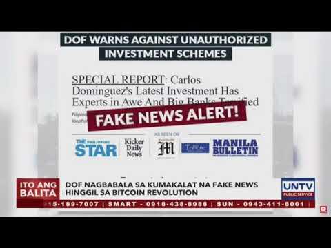 """MINING CITY SCAM """"FINANCE SEC. CARLOS DOMINGUEZ pinag-iingat ang publiko sa BITCOIN fake news!"""