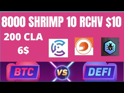 Earn free bitcoin &$  |  8000 SHRIMP | 200 CLA |  $1 reward  | RCHV $10 | SFR TOKEN UPDATE