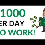 Earn $1000 Per Day on AUTOPILOT! (No Work) - Make Money Online