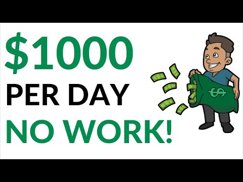 Earn $1000 Per Day on AUTOPILOT! (No Work) - Make Money Online