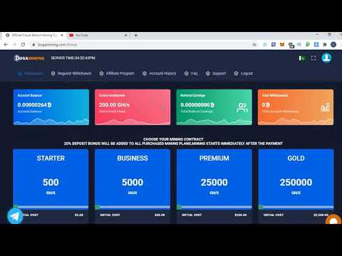 NEW BITCOIN MINING SITE2020  sign up bouns200GH/S  earn free bitcoin