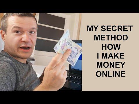 I reveal my secret method how I make money online!