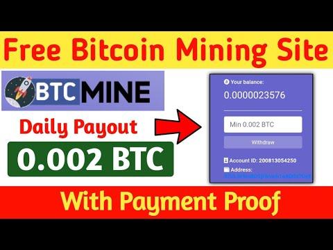 New Free Bitcoin Mining Site | New BTC Mining Site 2020 | Free Bitcoin Mining