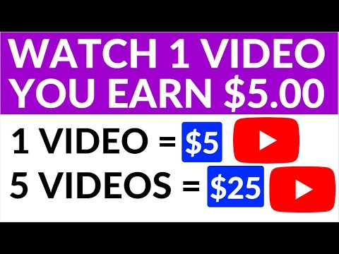 Get Paid to Watch Videos! ($5 Per Video) Make Money Online Watching Videos
