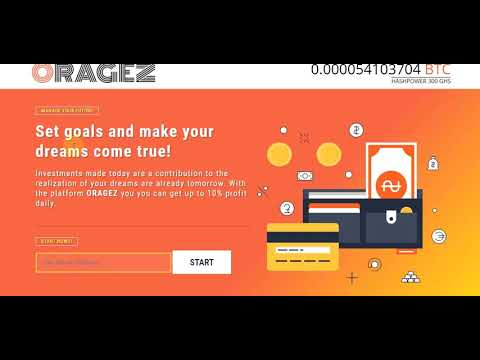 ORAGEZ New Free Bitcoin Mining Legit 2020 300 Ghs for registration