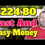 Earn Money Online FAST and EASY In Less Than 24 Hrs