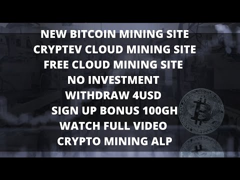 CRYPTEV NEW  BITCOIN MINING SITE | 100GH BONUS SIGN UP | WITHDRAW 4USD | NO INVESTMENT