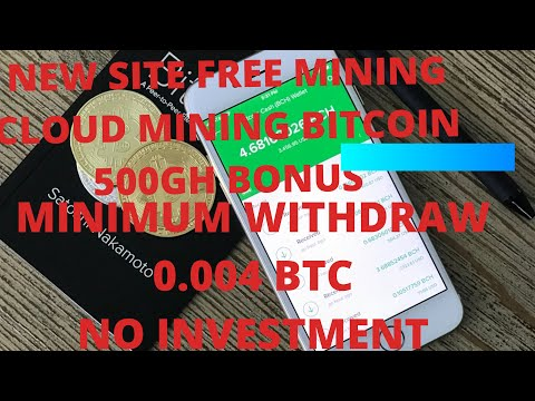 NEW FREE BITCOIN MINING SITE |  500GH BONUS | WITHDRAWAL 0.004 BTC| NO INVESTMENT | DAILY 0.00001