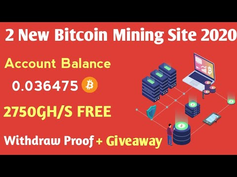 2 New Free Bitcoin Mining Sites 2020 | Earn Free 0.03 Bitcoin | Live Withdraw + Giveaway