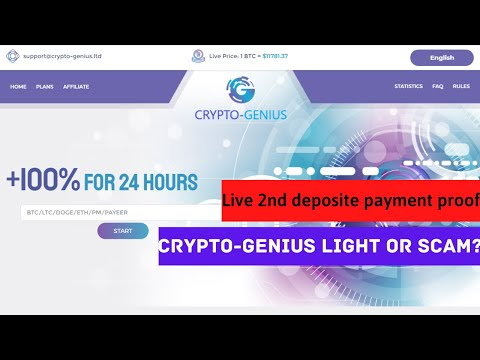 crypto-genius light or scam | new crypto doubler site2020| live $8 payment proof| best doubler site