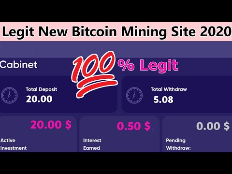 New Bitcoin Mining Site 2020 | 100% Legit Bitcoin Mining Site 2020 | Best Bitcoin Mining Site 2020