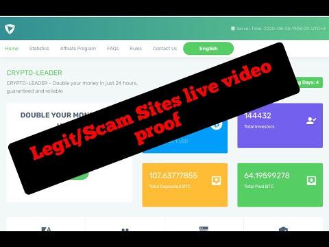 Crypto-Leader.ltd Legit & Scam sites live video proof 2020