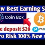 OMG New Coinbox ! New Bitcoin Earning Site 2020 ! Daily %140 Earn + Live Deposit $20 + giveaway