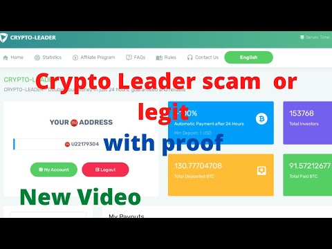 crypto-leader.ltd scam don't invesment in this site with proof