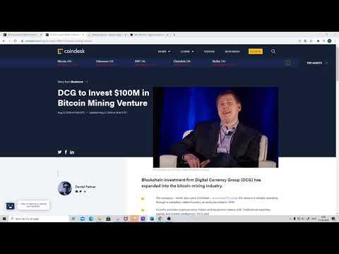 DCG to Invest $100M in Bitcoin Mining Venture