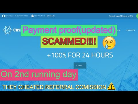 Crypto-land.ltd - Scammed!! - On 2nd running day