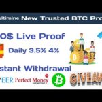 New Free  Bitcoin Mining site 2020,Multiminig New bitcoin site withdrawal proof,Mining Company Proof