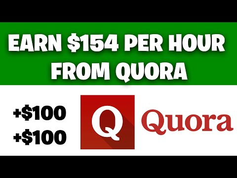 Earn $154 FOR FREE From Quora [Make Money Online]