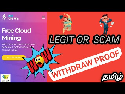 Crypto | cpuwin | withdraw proof  | scam or not | Tamil. (  தமிழ் )
