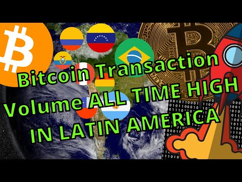 BITCOIN TRANSACTION VOLUME IN LATIN AMERICA ALL TIME HIGH !!!
