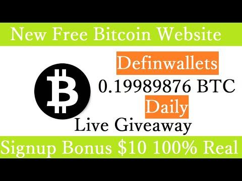 New Free Bitcoin Mining Site 2020-Free Cloud Mining Site 2020-Definwallets Signup Bonus $10