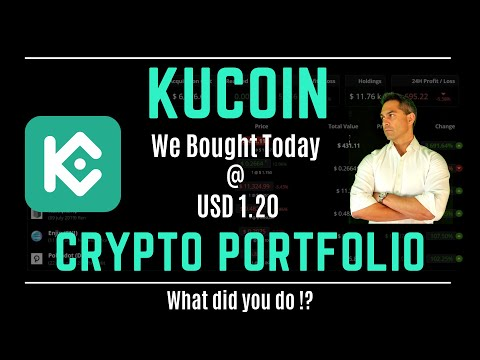 Crypto News - Portfolio Update - Kucoin shares profit