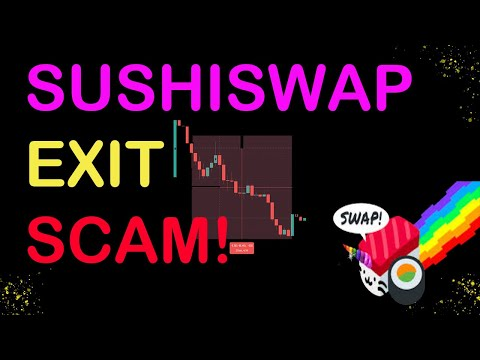 SUSHI SWAP SCAM? SUSHI DROP! Founder Sells ALL Sushi Tokens! BITCOIN & ETHEREUM about to EXPLODE!?
