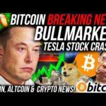 BREAKING NEWS: BITCOIN BULLMARKET IS BACK SOON!!! TESLA Stock CRASH!! Altcoin & Crypto News