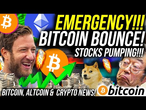 EMERGENCY BITCOIN BOUNCE!! DEFI Back Pumping Altcoins! STOCKS ARE RECOVERING!! Crypto News
