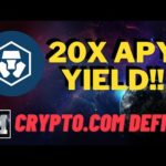 😱  BREAKING!!  20X APY GAINS on CRYPTO.COM DeFi Yield Farming  + Bitcoin News Today - Dont Miss