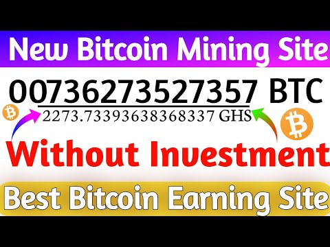 Best Bitcoin Mining Site 2020 | New Bitcoin Cloud Mining Site | Earn Bitcoin Free