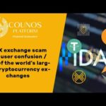 IDAX exchange scam and user confusion / One of the world's largest cryptocurrency exchanges
