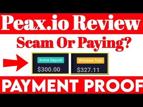 Peax.io Scam OR Paying - || Earn 114% Daily Live 327$ Payment Proof Review Urdu/Hindi