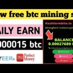 how to earn money online new bitcoin mining site hashfarmbite.io website | without investment
