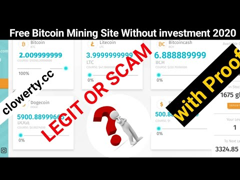 clowerty.cc Scam Or Legit proof|Free Bitcoin Mining|New Free Bitcoin Mining site|New BTC Mining site