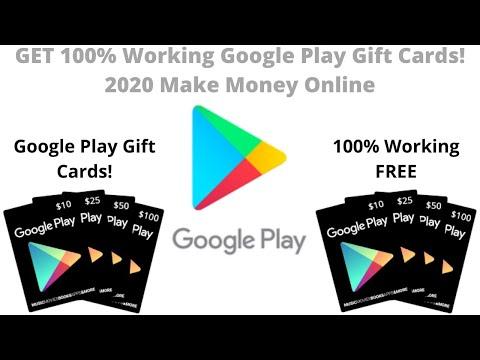 GET 100% Working Google Play Gift Cards! 2020 Make Money Online
