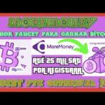 💨MOREMONEY Melhor Faucet Para Ganhar Bitcoin ptc, offewals, jobs, games, refferal TUTORIAL COMPLETO