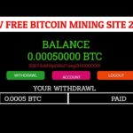 New free bitcoin mining site, Mine free bitcoin, Live Payemnet proof, Long term site