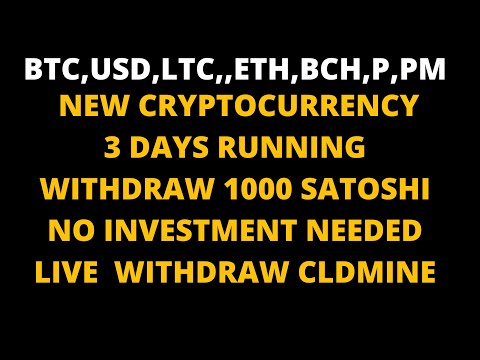 NEW FREE BITCOIN MINING   LIVE WITHDRAW   MAKE PROFIT IN SHORT PERIOD  FREE CLOUD BITCOIN MINING