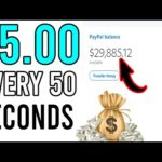 Earn $5.00 Every 50 Seconds! [Easy Way to Make Money Online]