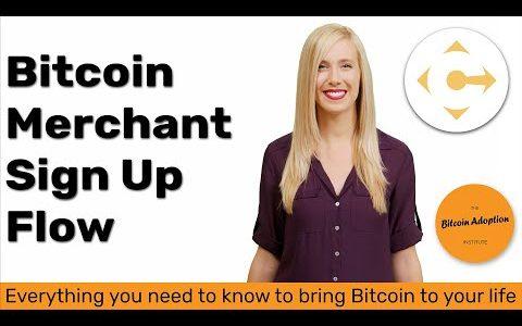 Coinify Bitcoin Merchant Sign up Flow