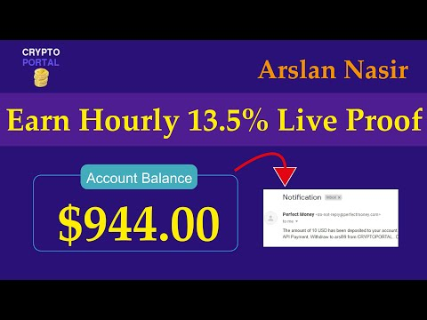 CryptoPortal - New Free Bitcoin Mining Site 2020 - Earn Hourly 13.5% Live 10 USD Payment Proof